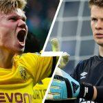 Haaland_vs_alexander nubel_Dortmund_Schalke