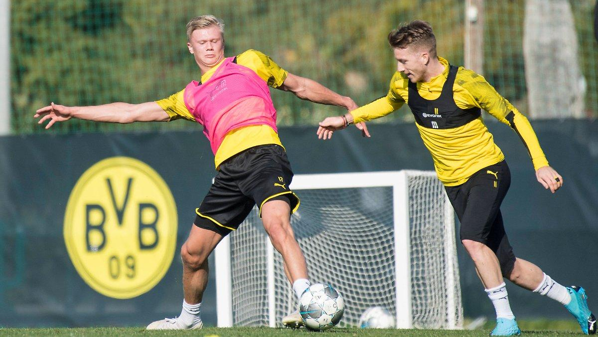 Haaland_Reus_Dortmund_training